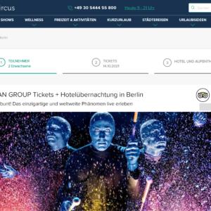BLUE MAN GROUP Tickets + Hotelübernachtung in Berlin