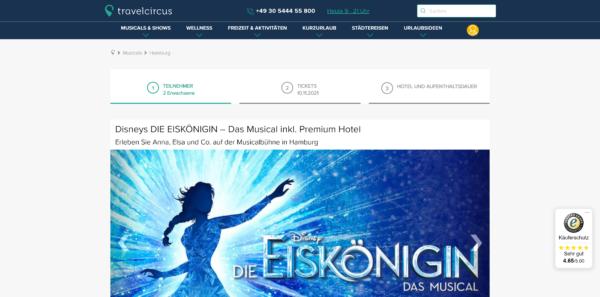 Disneys DIE EISKÖNIGIN - Das Musical inkl. Premium Hotel