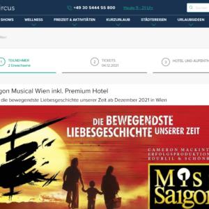Miss Saigon Musical Wien mit Hotel
