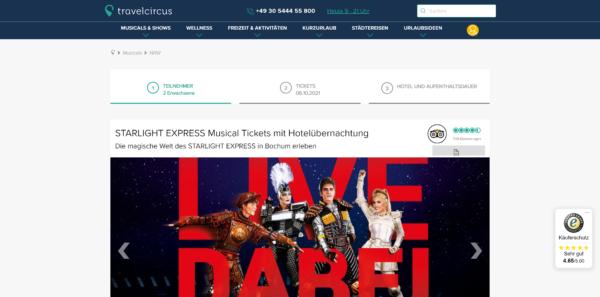 Starlight Express Musical-Tickets mit Hotelübernachtung