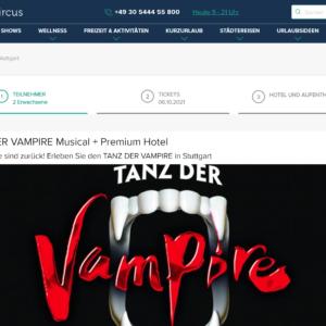 TANZ DER VAMPIRE Musical mit Premium Hotel