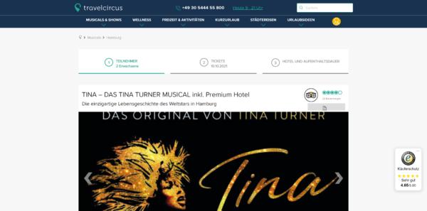 Tina - Das Tina Turner-Musical inkl. Premium-Hotel