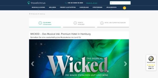 WICKED - Das Musical inkl. Premium Hotel in Hamburg