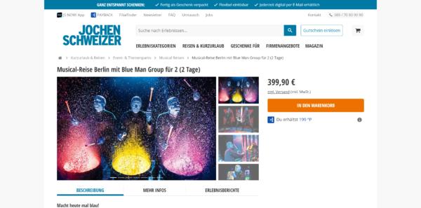 Musicalreise Berlin mit Blue Man Group für 2 (2 Tage)